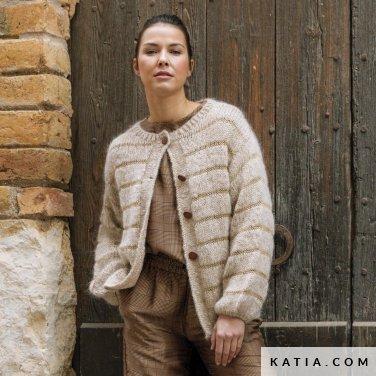 patroon breien haken dames jas herfst winter katia 6184 31 p