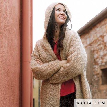 patroon breien haken dames jas herfst winter katia 6184 33 p