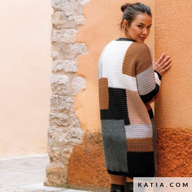 patroon breien haken dames jurk herfst winter katia 6184 14 p