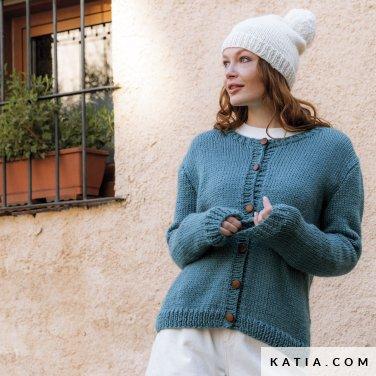 patroon breien haken dames trui herfst winter katia 6184 1 p