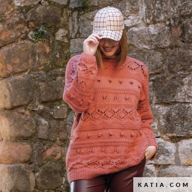 patroon breien haken dames trui herfst winter katia 6184 10 p