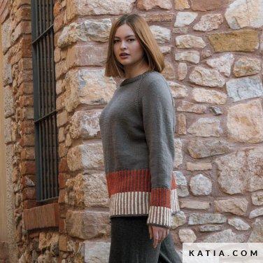 patroon breien haken dames trui herfst winter katia 6184 11 p