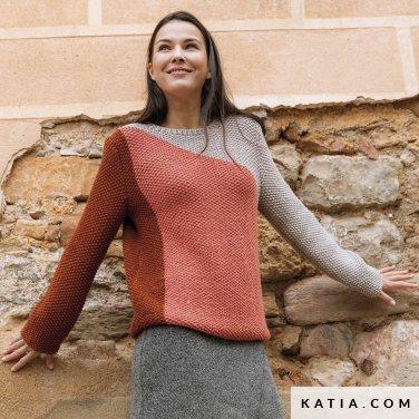 patroon breien haken dames trui herfst winter katia 6184 12 p