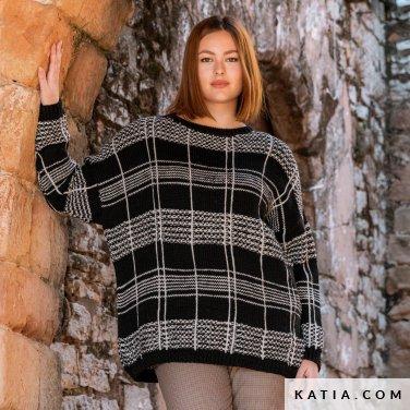 patroon breien haken dames trui herfst winter katia 6184 19 p