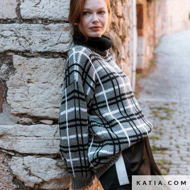 patroon breien haken dames trui herfst winter katia 6184 20 p