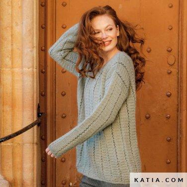 patroon breien haken dames trui herfst winter katia 6184 23 p