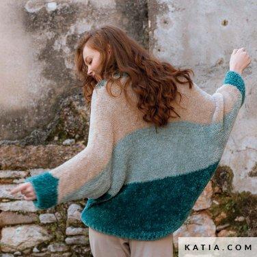 patroon breien haken dames trui herfst winter katia 6184 25 p