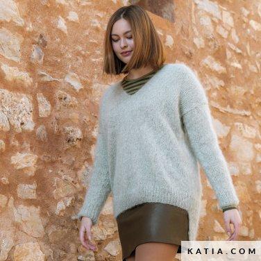 patroon breien haken dames trui herfst winter katia 6184 27 p