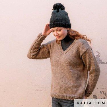 patroon breien haken dames trui herfst winter katia 6184 5 p