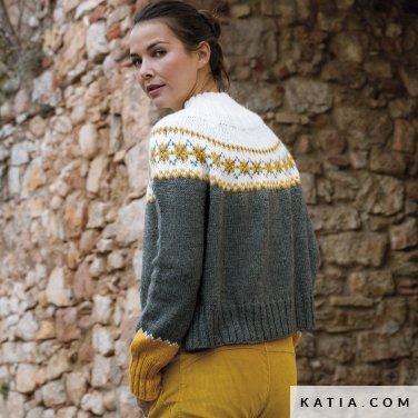 patroon breien haken dames trui herfst winter katia 6184 7 p