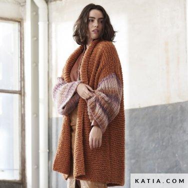 patroon breien haken dames jas herfst winter katia 6185 40 p