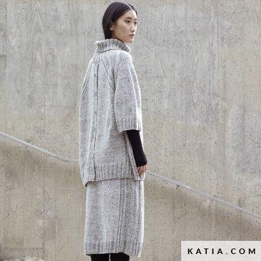 patroon breien haken dames set herfst winter katia 6185 1 p