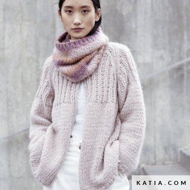 patroon breien haken dames set herfst winter katia 6185 13 p