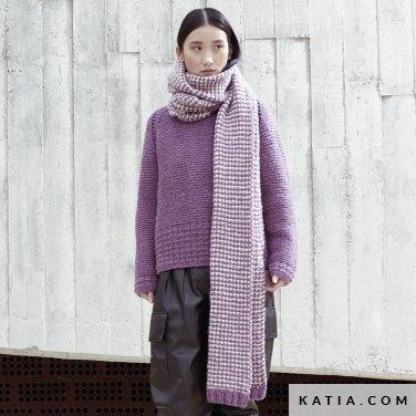 patroon breien haken dames set herfst winter katia 6185 16 p