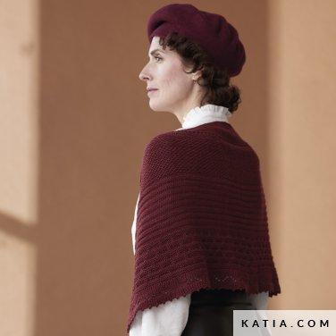patroon breien haken dames stola herfst winter katia 6185 52 p