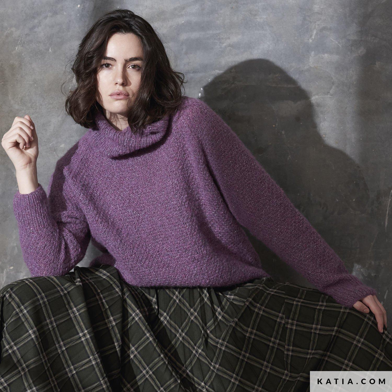 patroon breien haken dames trui herfst winter katia 6185 19 g