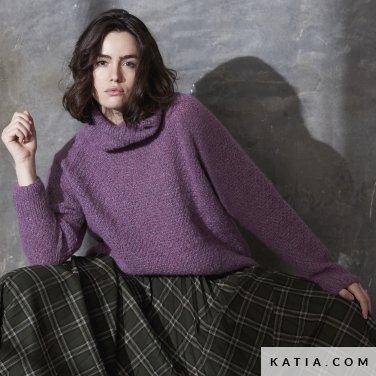 patroon breien haken dames trui herfst winter katia 6185 19 p