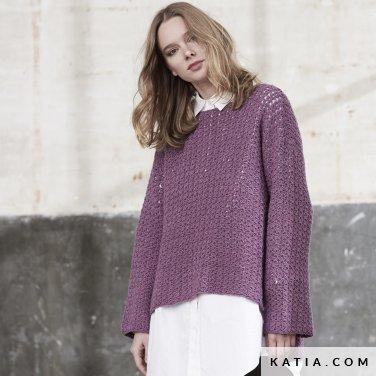 patroon breien haken dames trui herfst winter katia 6185 20 p