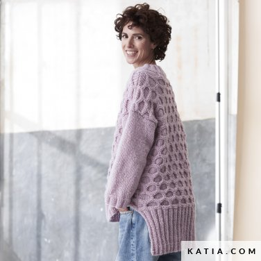 patroon breien haken dames trui herfst winter katia 6185 21 p