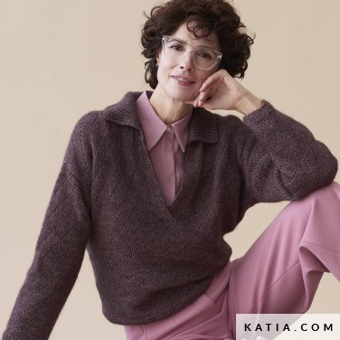 patroon breien haken dames trui herfst winter katia 6185 22 p