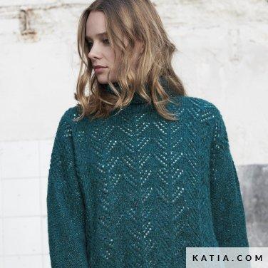 patroon breien haken dames trui herfst winter katia 6185 32 p
