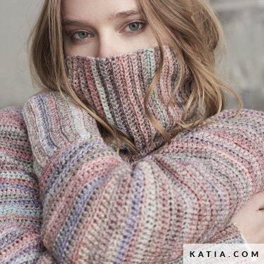 patroon breien haken dames trui herfst winter katia 6185 38 p