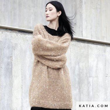 patroon breien haken dames trui herfst winter katia 6185 6 p