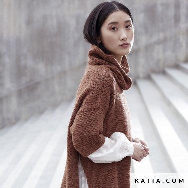 patroon breien haken dames trui herfst winter katia 6185 9 p