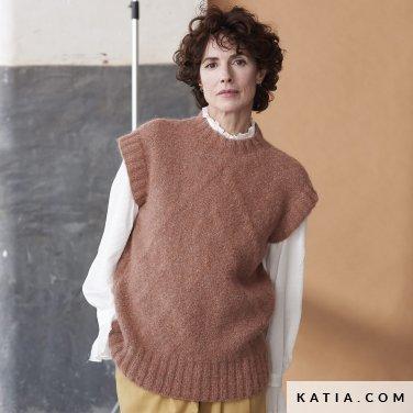 patroon breien haken dames vest herfst winter katia 6185 41 p
