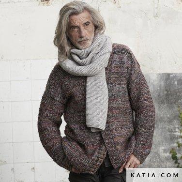 patroon breien haken heren set herfst winter katia 6185 49 p