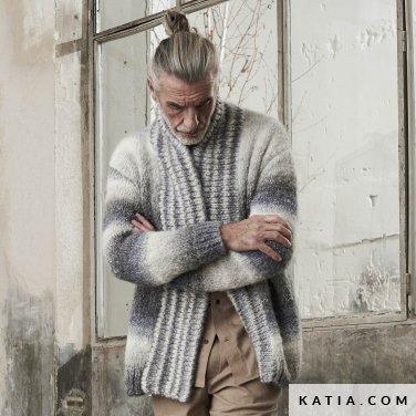 patroon breien haken heren trui herfst winter katia 6185 26 p