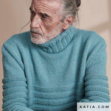 patroon breien haken heren trui herfst winter katia 6185 29 p