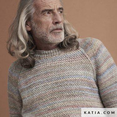 patroon breien haken heren trui herfst winter katia 6185 43 p
