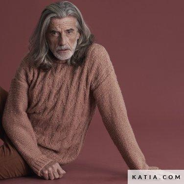 patroon breien haken heren trui herfst winter katia 6185 44 p