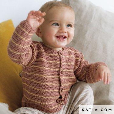 patroon breien haken baby jas herfst winter katia 6186 3 p