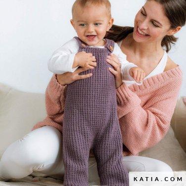 patroon breien haken baby kruippakje herfst winter katia 6186 8 p