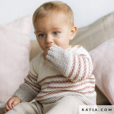 patroon breien haken baby trui herfst winter katia 6186 1 p