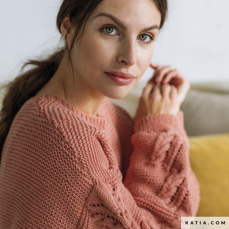 patroon breien haken dames trui herfst winter katia 6186 4 g