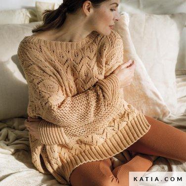 patroon breien haken dames trui herfst winter katia 6186 5 p