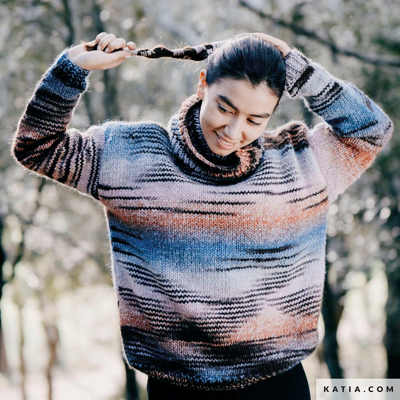 patroon breien haken dames trui herfst winter katia 6232 20d g
