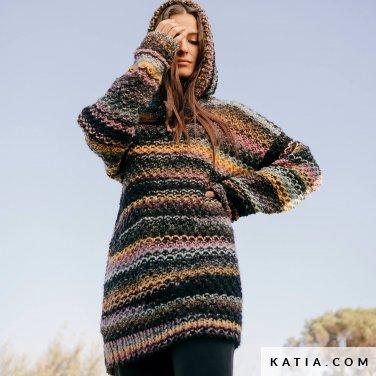 patroon breien haken dames trui herfst winter katia 6232 36 p