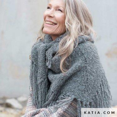 patroon breien haken dames stola herfst winter katia 6235 17 p