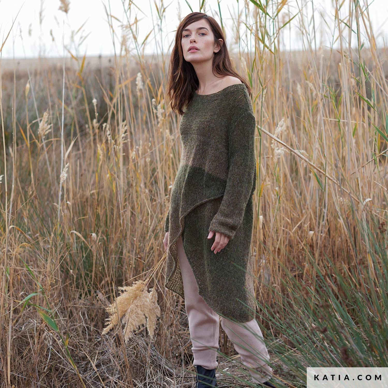 patroon breien haken dames trui herfst winter katia 6235 4 g