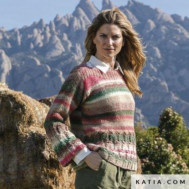 patroon breien haken dames trui herfst winter katia 6236 3 p