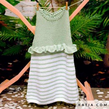 patroon breien haken baby jurk lente zomer katia 6252 17 p