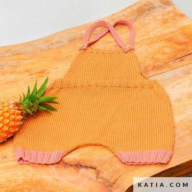 patroon breien haken baby kleed aap lente zomer katia 6252 33 p