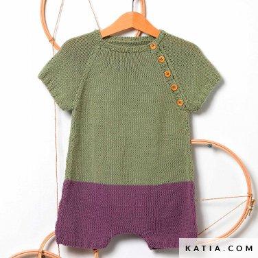 patroon breien haken baby kleed aap lente zomer katia 6252 39 p