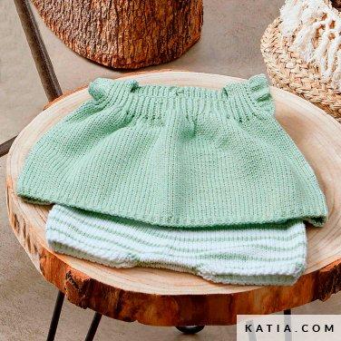 patroon breien haken baby set lente zomer katia 6252 18 p
