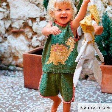 patroon breien haken baby set lente zomer katia 6252 34 p