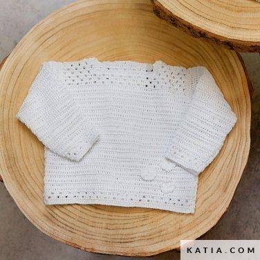 patroon breien haken baby trui lente zomer katia 6252 11 p